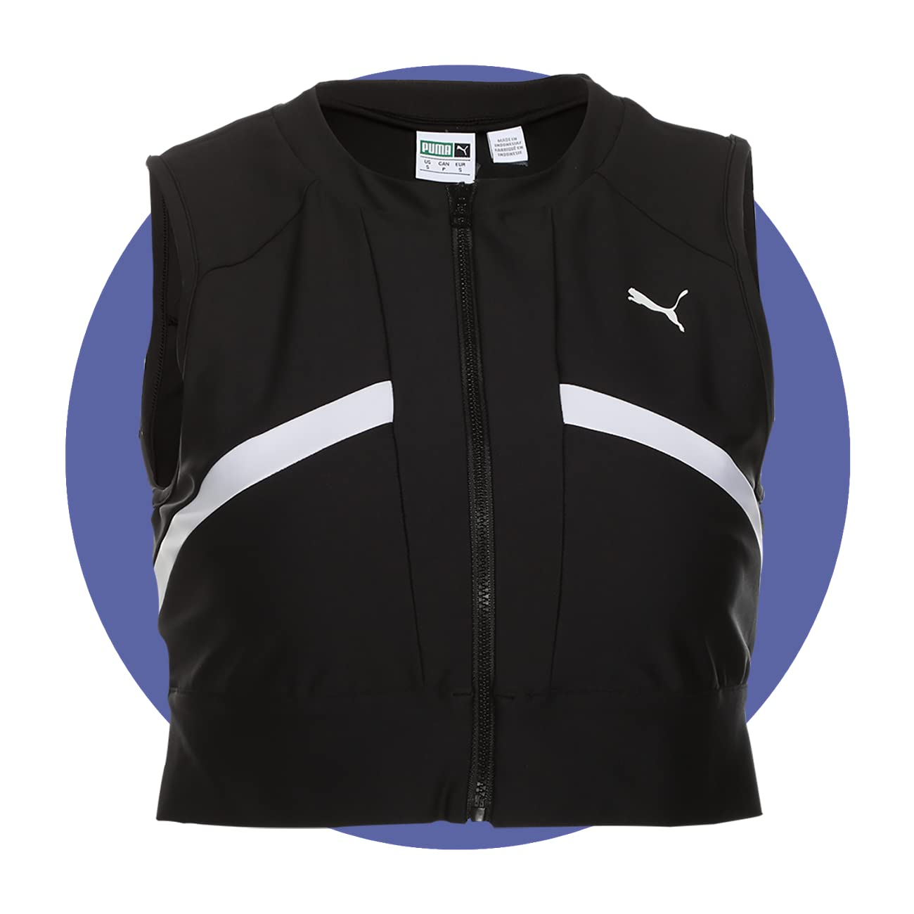 PUMA Chase Full Zip Crop Top
