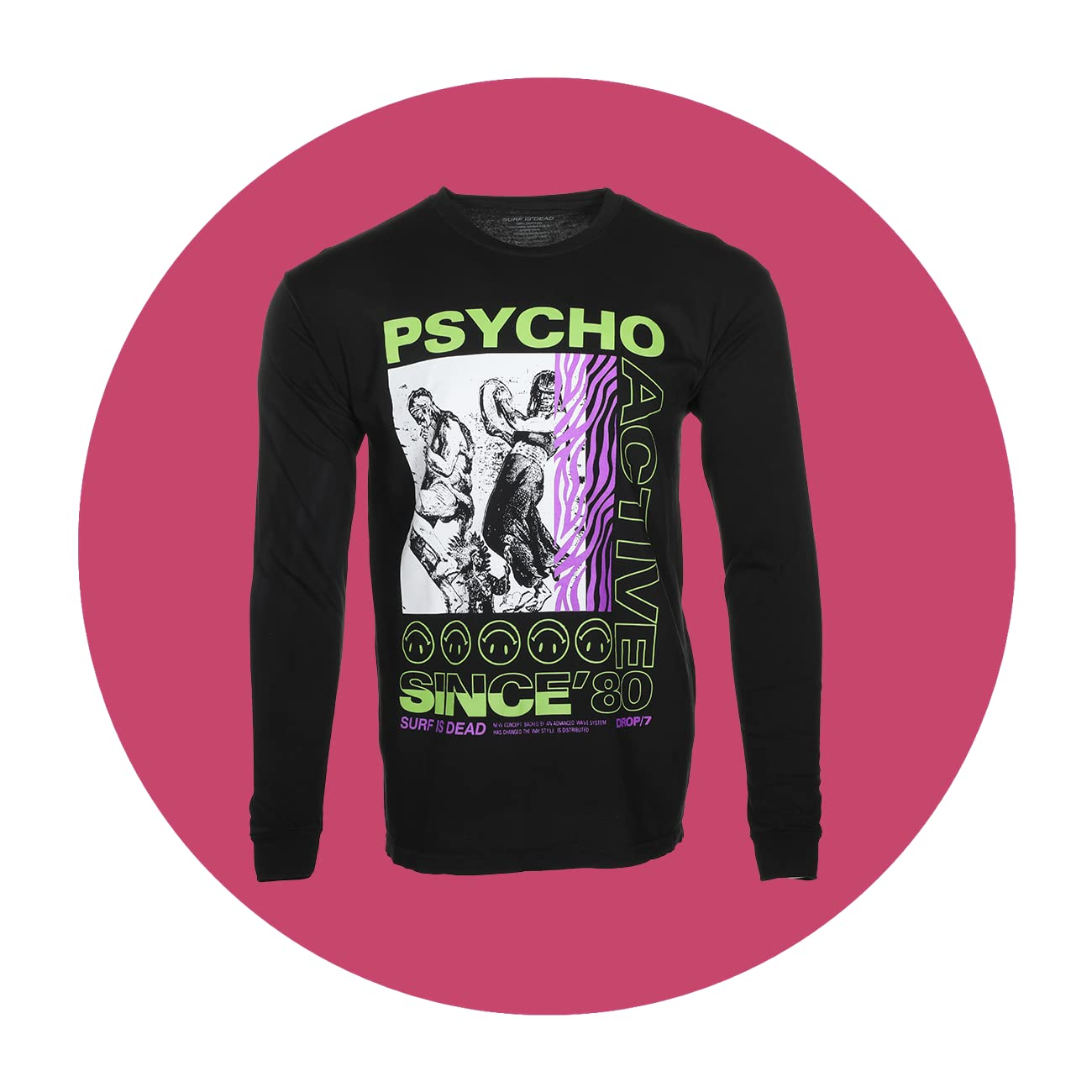 SURF IS DEAD Psycho Active Long Sleeve Tee