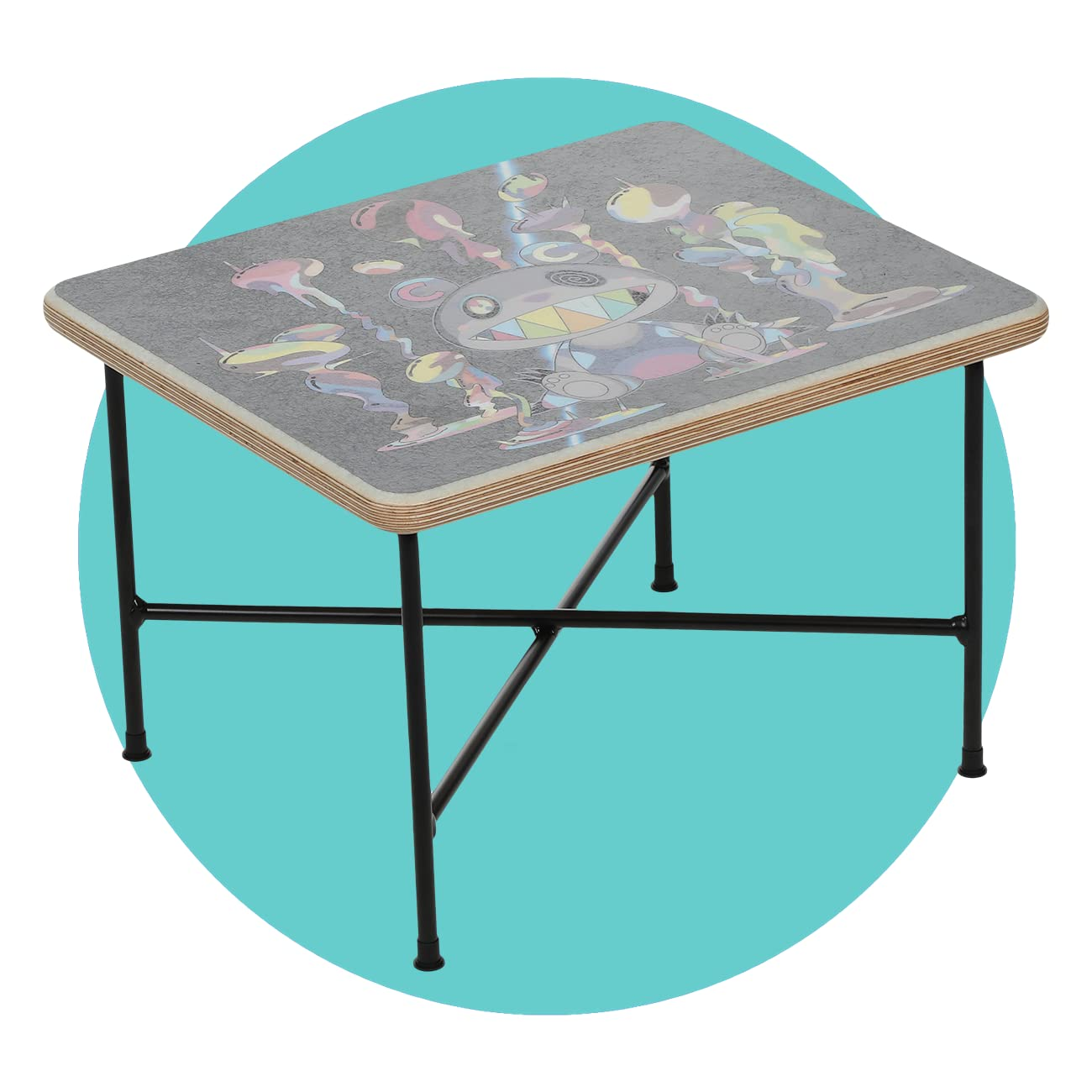 ComplexCon Takashi Murakami x Modernica TMKK Side Table