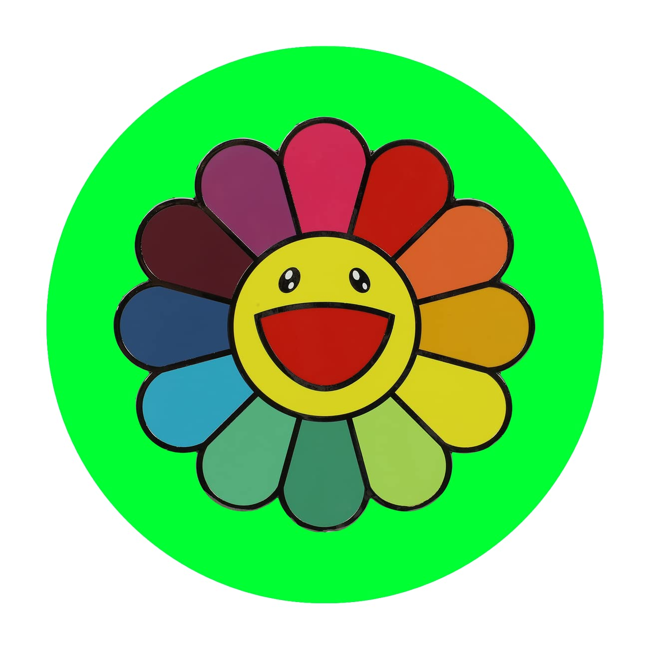 "ComplexCon Takashi Murakami XL Flower Pin - 5"""